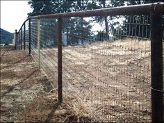 Idea for fencing around the front of the field using steel pipe.