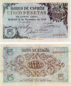 1936-5 pesetas- Burgos- Anverso y reverso