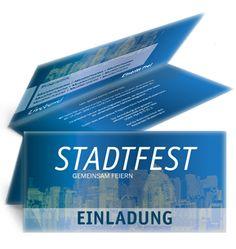 Stadtfest Einladungskarten von www.onlineprintxxl.com #einladungskarte #stadtfest #einladungen