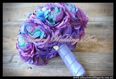 Allaura Wedding Arts « FindItforWeddings Purple and blue wedding bouquet www.finditforweddings.com