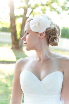 Annie Hair Flower and Brooch by Tiffani Saxton Designs, Flower, Silk, Weddings, Bride, Hair @Tiffani Saxton, @PhotoGem Studios