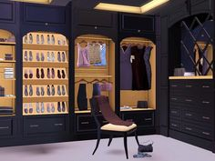 Brown Cherry Closet by Flovv http://www.thesimsresource.com/downloads/1203816