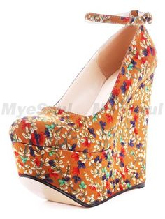 Flower power super stacked wedges