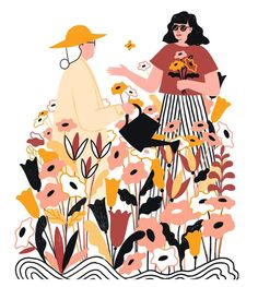"""1,184 Me gusta, 14 comentarios - Abbey Lossing (@abbey_lossing) en Instagram: """"Illustration for BF magazine to accompany an article about how older women can mentor younger…"""""""