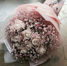 Discovered by Zai Ineb. Find images and videos about pink, flowers and rose on We Heart It - the app to get lost in what you love. Boquette Flowers, Luxury Flowers, My Flower, Fresh Flowers, Dried Flowers, Beautiful Flowers, Wedding Flowers, Bouquet Of Flowers, Beautiful Flower Arrangements