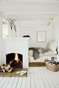 Cozy bedroom nook bed