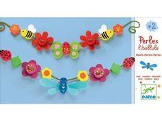 schattig setje houten parels 'libel & vlinder' DJECO | kinderen-shop Kleine Zebra
