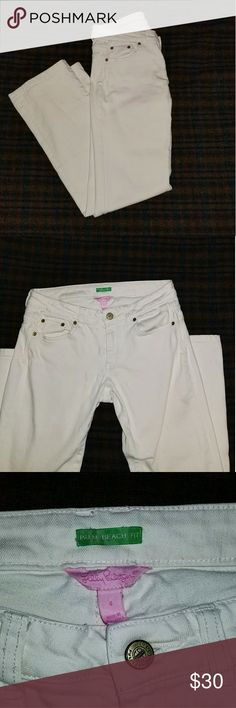 Lilly Pulitzer Palm Beach Fit Jeans Lilly Pulitzer White Straight Leg Jeans. Super stretchy! Lilly Pulitzer Jeans