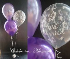 WEDDING Balloon Table Decoration PURPLE AND LILAC BUTTERFLY Kit JMB