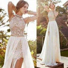Fashion a-line scoop sleeveless lace up short homecoming dress with lace
