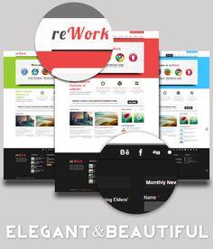 reWork - Elegant & Beautiful Template by Nguyen Ngoc Viet, via #Behance