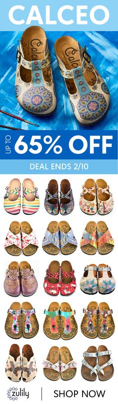 Sign up to shop Calceo shoes up to 65% off. Calceo makes footwear fun with bold patterns, pops of color and funky silhouettes. Turkish-made and lovingly crafted, these pairs add intrigue to every outfit. Deal ends 2/10.