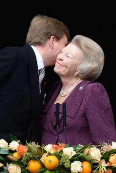 The 75-year-old looked close to tears as she then appeared on a balcony overlooking some 20,000 of her subjects.