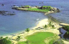 @Four Seasons Resort Punta Mita, Mexico boasts the world's only natural island green.