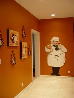 Wall sticker to add to fat chef collection in the kitchen for Fat chef kitchen ideas