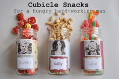 DIY cubicle snacks for your man | kojodesigns