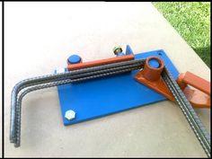 dobladora de hierro para estribos 4 -a 12 mm manual