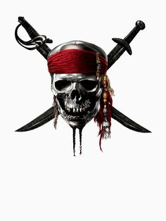 Jack Sparrow Drawing, Jack Sparrow Tattoos, Sparrow Art, Tattoo Pirate, Pirate Skull Tattoos, Caribbean Art, Pirates Of The Caribbean, Wallpaper Caveira, Flower Border Clipart