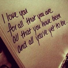 One of my favorite quotes. This is the meaning of love