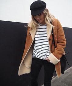 Manteau peau lainee femme pas cher