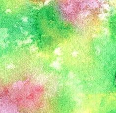 Watercolor painting sprinkled with salt to create this cool effect!