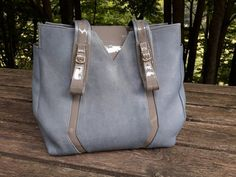 Matisse is a light blue shoulder bag from premium Italian lambskin leather with highly soft surface This shoulder bag has a distinctive design - a combination of two kinds of leather - with an outstanding Unique Bags, Simple Bags, Blue Shoulder Bags, Leather Shoulder Bag, Leather Bags Handmade, Handmade Bags, Blue Handbags, Leather Handbags, Womens Purses