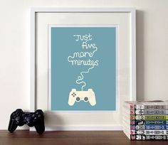 """Illustration quote poster print Gaming. I like. In a future """"gaming"""" room perhaps?"""