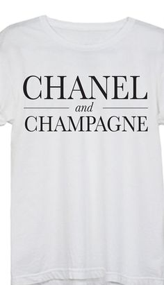 Chanel & Champagne Tee - take 30% off with code:  THANKYOU30 http://rstyle.me/n/rip8hnyg6