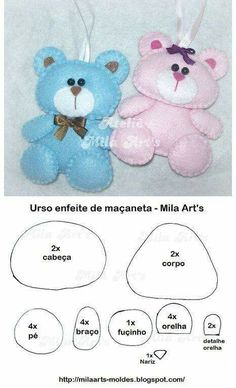 Sewing Teddy Bear felt bear pattern, lovely as a brooch or hanging from a baby's tote bag Felt Patterns, Craft Patterns, Stuffed Toys Patterns, Bear Felt, Felt Baby, Baby Crafts, Felt Crafts, Sewing Crafts, Sewing Projects