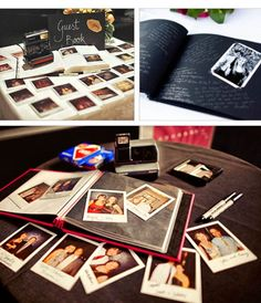 Polaroid Guest Book Where They Can Write What They Want On The Side