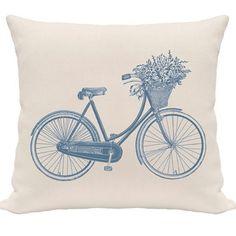 "Funda de almohada "" Bicicleta"""
