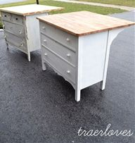 7 Kitchen Island Ideas You Haven't Thought Of. Ready to put a kitchen island in your home, but short on ideas and budget? Take a look at these seven different DIY kitchen island ideas! There are great big and small kitchen island ideas too! Diy Kitchen Island, Redo Furniture, Diy Furniture, Home Improvement, Home Decor, Sewing Room, Repurposed Furniture, Home Diy, Diy Kitchen