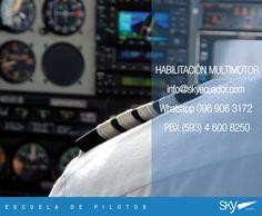 Atención! Estamos iniciando nuestro próximo curso Habilitación Multimotor el 27 de Julio.  CUPOS DISPONIBLES.   info@skyecuador.com ( 0969063172 solo mensajes WhatsApp ) www.skyecuador.com 04 600 8250