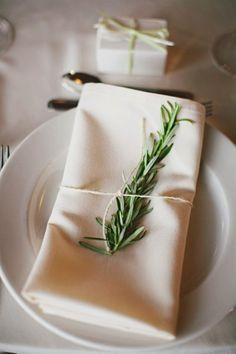 Rosemary place setting - Edmonton Wedding from Atmosphere Wedding Planning & Design