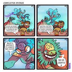 Cute Comics, Funny Comics, Funny Art, Funny Memes, Myth Stories, Mexican Memes, Aztec Art, Short Comics, Webtoon