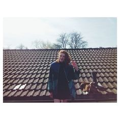 A little Hi from today's roof with beautiful Sophia