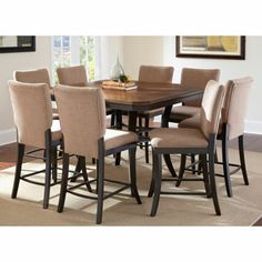 Brookshire 9 Pc Counter Height Dining Set