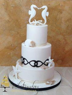 Sea of Love wedding cake (=)