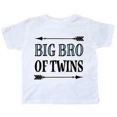 76dc6bcee Big Bro Of Twins Brother Gift Toddler T-Shirt White $11.99  www.homewiseshopperkids.