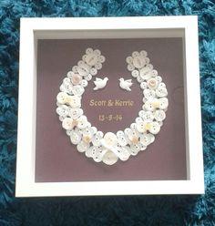 Button wedding horseshoe