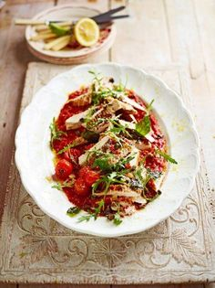 keeper recipe! Chicken Arrabiata served with spaghettini - knockout lunch! | Jamie Oliver
