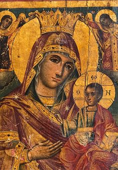 Madonna, Russian Icons, Heart Of Jesus, Hail Mary, Religious Icons, Mother And Child, Virgin Mary, Ancient Greek, Jesus Christ