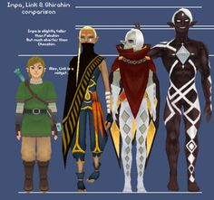 Zelda Skyward Sword characters heights comparison  Link is a midget...