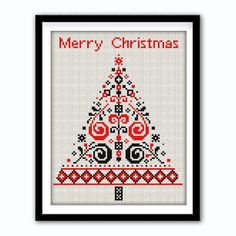 Christmas Tree Cross Stitch Pattern.P 1337. Christmas