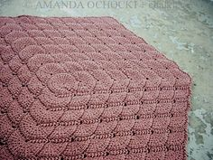 Chalk Legs: Tunisian Shell Blanket by Lena Fedotova. I'm really excited about this pattern. It's unlike any Tunisian stitch I've seen.