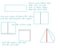 triangular bag