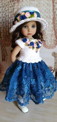 Dianna Effner Crochet Doll Clothes, Doll Clothes Patterns, Crochet Dolls, Doll Patterns, Pretty Dolls, Cute Dolls, Beautiful Dolls, Girl Dolls, Baby Dolls
