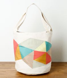easy to DIY tote bag with appliqué