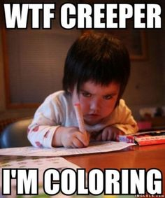 I'm coloring!