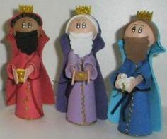 reyes magos en goma eva mis fofuchas 3 reyes magos fofucho pesebre incienso mirra oro ofrendas christmas 269x225